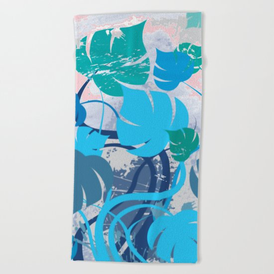 Monstera cavalcade Beach Towel