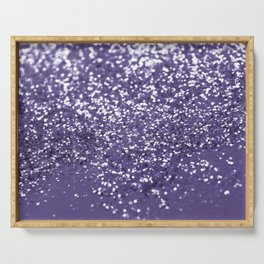 Sparkling ULTRA VIOLET Lady Glitter #1 #shiny #decor #art #society6 Serving Tray