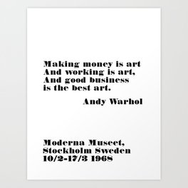 the best art - andy quote Art Print