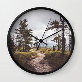 Over the mountains and through the woods Wall Clock