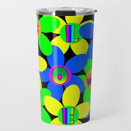 Flower Power 60s-70s Travel Mug