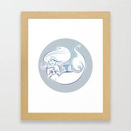 Cake break - background Framed Art Print
