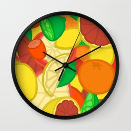 Cute Fruits! Wall Clock