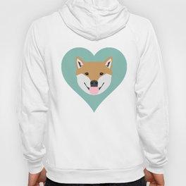 Shiba Love - Heart shiba inu funny dog for dog lovers pet gifts customizable dog meme dog person Hoody