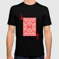 Queen of Hearts Black Mens Fitted Tee MEDIUM
