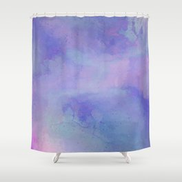 Watercolour Galaxy - Purple Speckled Sky Shower Curtain