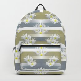 Mix of formal and modern with anemones and stripes 1 Backpack