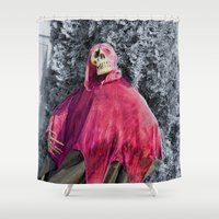 scary Shower Curtains featuring Scary! by IowaShots