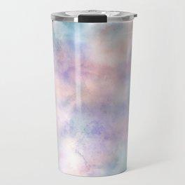 Watercolor Dreams, Abstract Teal, Purple, Blue, Peach Travel Mug