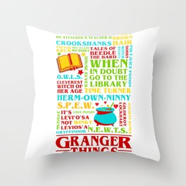 Granger Things Throw Pillow