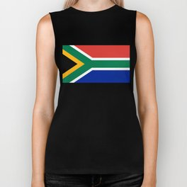 Flag of South Africa, Authentic color & scale Biker Tank