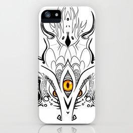 Menacing Zen Doodle Dragon iPhone Case