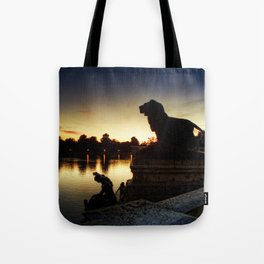 The Lion watches Tote Bag