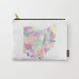 Watercolor State Map - Ohio OH colorful Carry-All Pouch