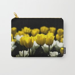 Tulips Yellow And White Carry-All Pouch