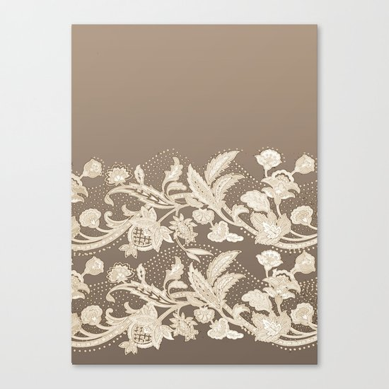 old lace border Canvas Print