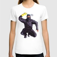 bathroom T-shirts featuring Bathroom Ninja by Del Gaizo