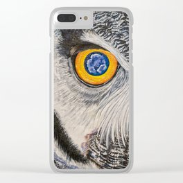 Dreaming of freedom - owl eyes Clear iPhone Case