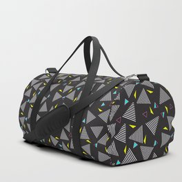 Retro Vintage 80s Pattern Dark Duffle Bag