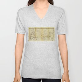 Isothermal Chart North of the 36th Parallel between the Atlantic & Pacific Oceans (1859) Unisex V-Neck