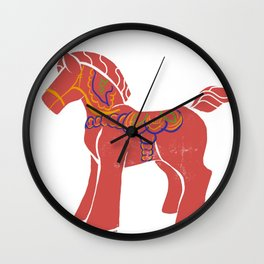 Real Dala Horse #1 Wall Clock