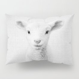 Lamb - Black & White Pillow Sham