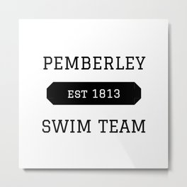 Pemberley Swim Metal Print