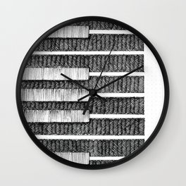 no610: Tickling the Ivories Wall Clock