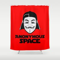 anonymous Shower Curtains featuring Anonymous by Tony Vazquez