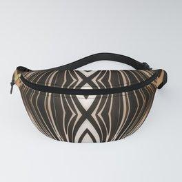 brown, digital, shiny pattern abstract modern elegant Fanny Pack