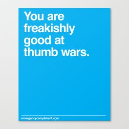 Thumb Wars Canvas Print