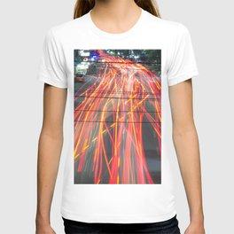 light trail photo T-shirt