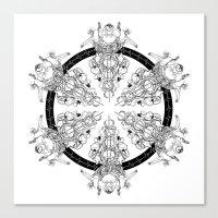 medicine Canvas Prints featuring Medicine Wheel by Verdant Winter