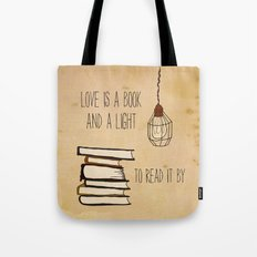 Love Is A Book Tote Bag