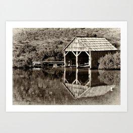 Heritage Boat House Art Print