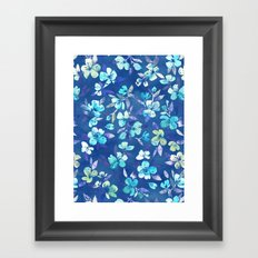 Grown Up Betty - blue watercolor floral Framed Art Print