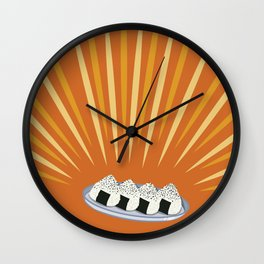 Holy Onigiri Wall Clock