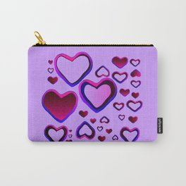 Transparent Heart Carry-All Pouch