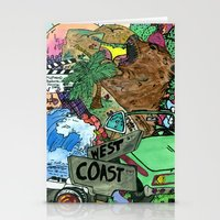 west coast Stationery Cards featuring west coast. by Late Bloomer