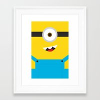 minion Framed Art Prints featuring Minion by Cloz000