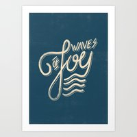 Waves of Joy Art Print