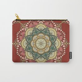 Red, green and gold mandala Carry-All Pouch