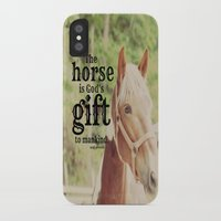 arab iPhone & iPod Cases featuring Horse Quote Arab proverb by KimberosePhotography
