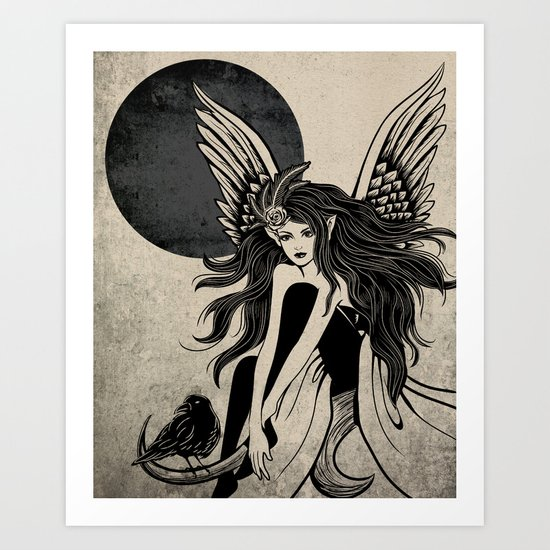 Dark Angel Art Print