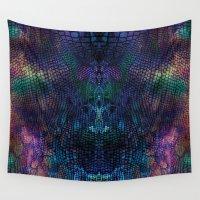 snake Wall Tapestries featuring snake by Marta Olga Klara