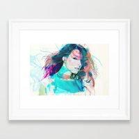 feminism Framed Art Prints featuring Feminism by Oana Popan