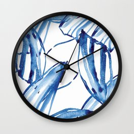 Withered blue Wall Clock