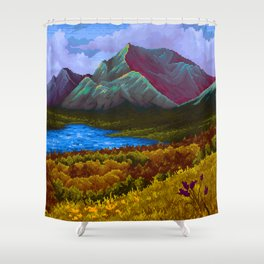 Mountain v2 Shower Curtain