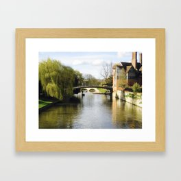 Cambridge Canal Framed Art Print