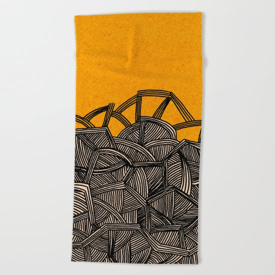 - barricades - Beach Towel